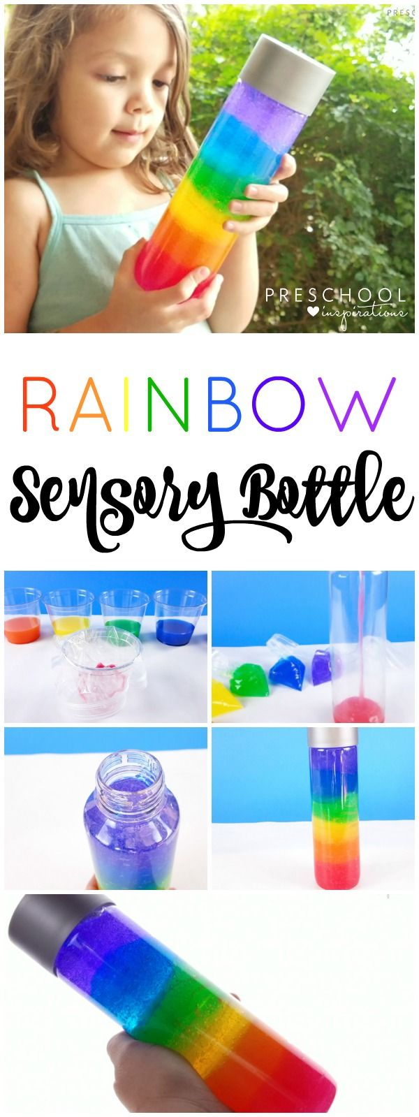 Rainbow Discovery Bottle for Sensory Play and Exploration