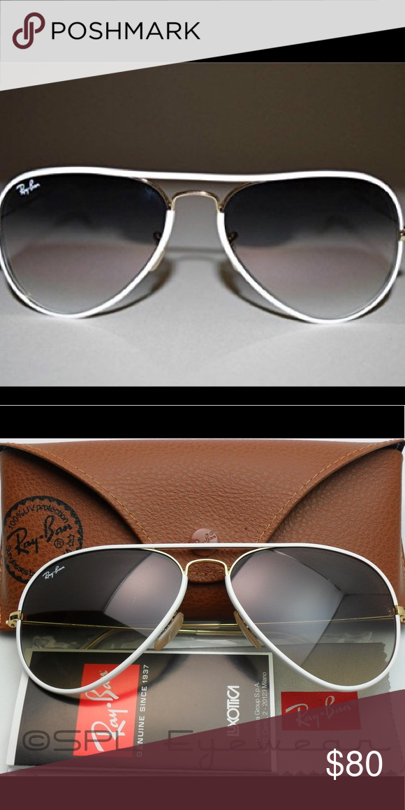 336b935f6 Ray-Ban Aviator with White Lining and Gold Frame RAY-BAN AVIATOR FULL COLOR