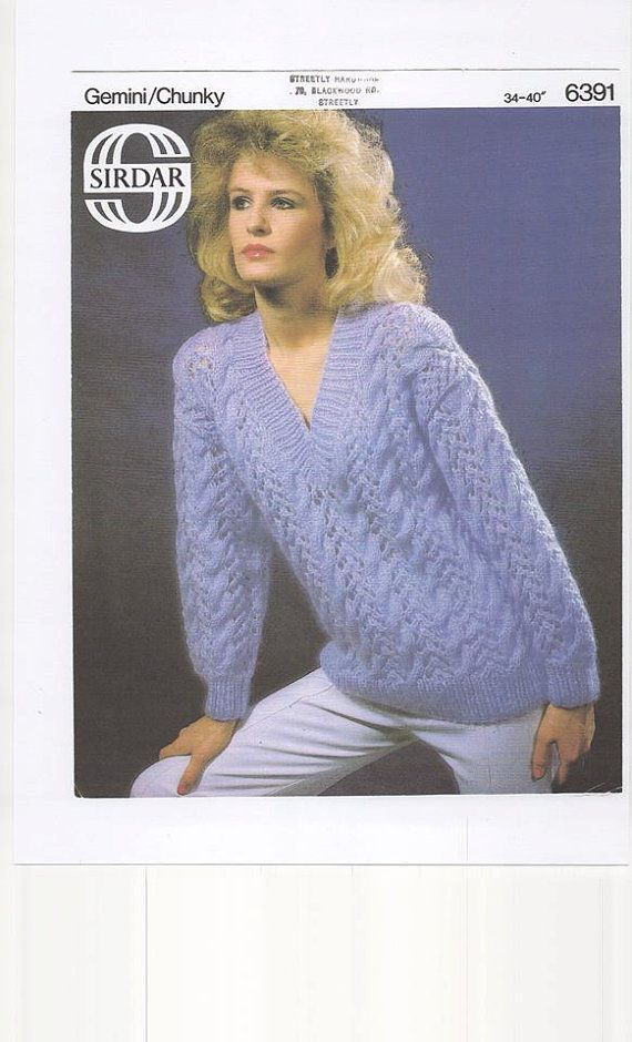 Ladies Sweater, , Womens Sweater,V Neck Sweater, Knitting Pattern ...