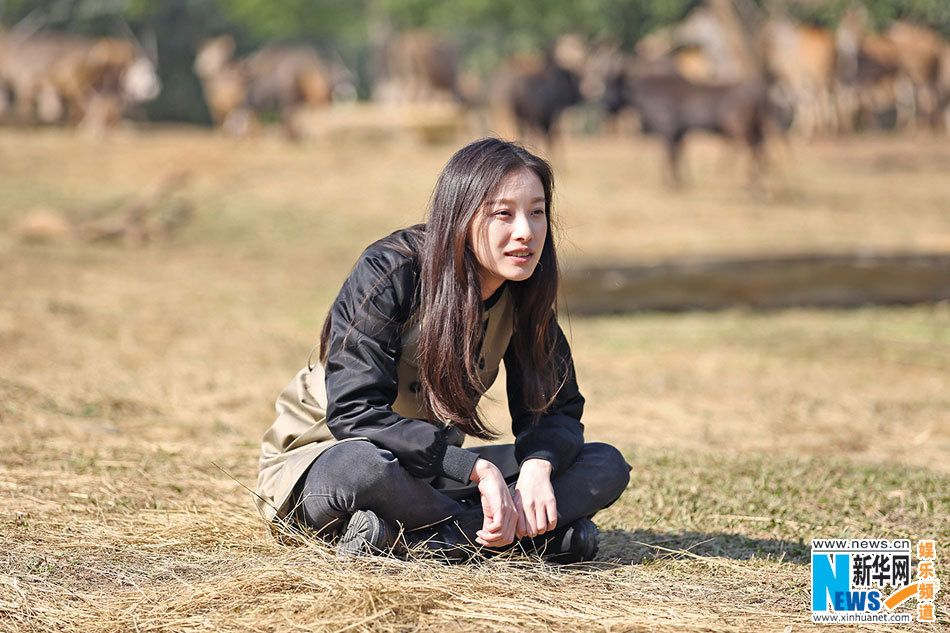 Chinese actress Ni Ni on television program set to air in China on January 17, 2015