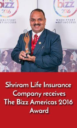 Shriram Life Insurance Company receives The Bizz Americas ...