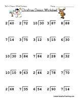 math worksheet : christmas division worksheet  holiday christmas and worksheet : Christmas Division Worksheets