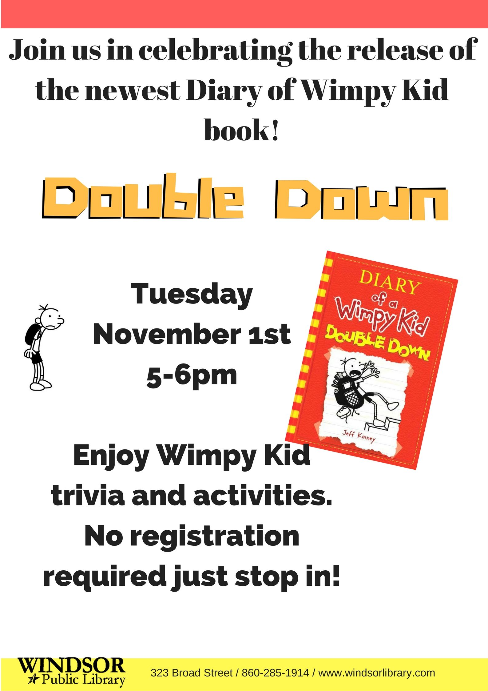 Diary Of A Wimpy Kid Program Library Trivia Activities