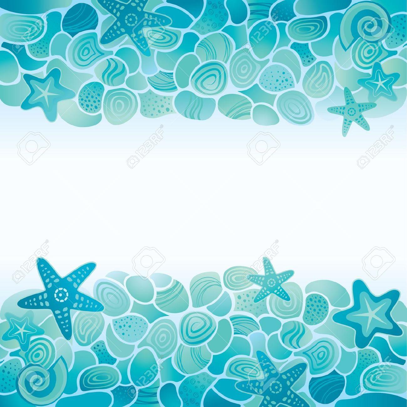 Dibujos de caracolas y estrellas mar buscar con google - Fotos fondo del mar ...