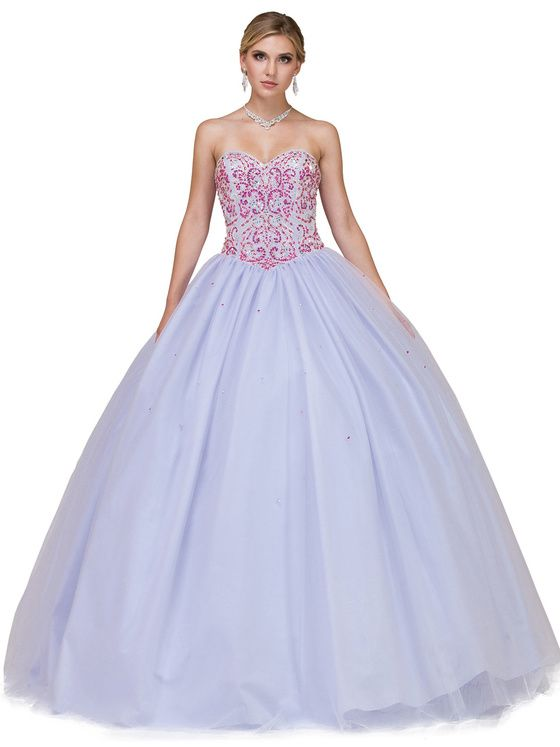 04d081f923332 Dancing Queen - 1176 Embellished Sweetheart Ballgown/ LOng Prom Dress ( Strapless, Ballgown skirt, Embellished, Mid open back, Lace up back  closure, ...