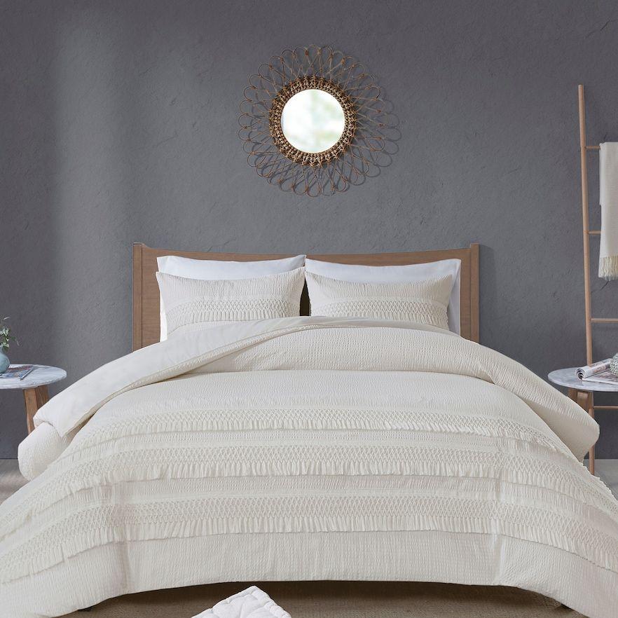 Madison Park Joelie 3Piece Cotton Seersucker Comforter