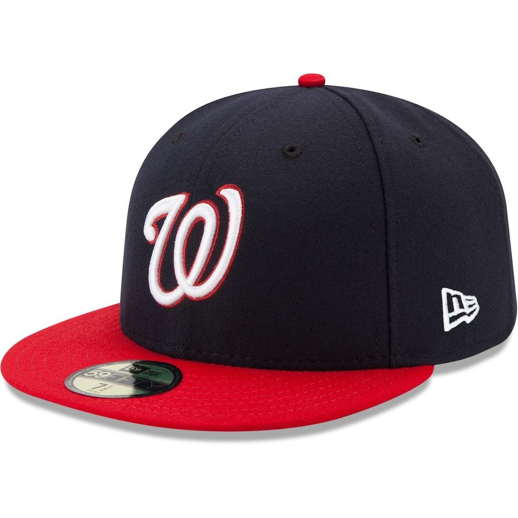 7 1//8 New Era Washington Nationals Authentic 59FIFTY Fitted MLB Cap Game