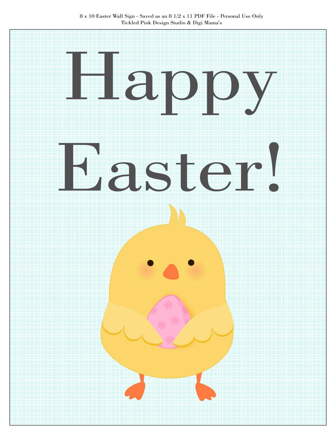 image regarding Happy Easter Sign Printable named Content Easter Signal Printable - FREEBIE! Printables Satisfied