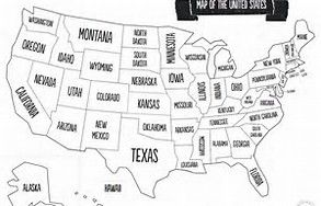 Us Map Color In.Us Map To Color For Kids Road Trip Bing Images Drive Pinterest