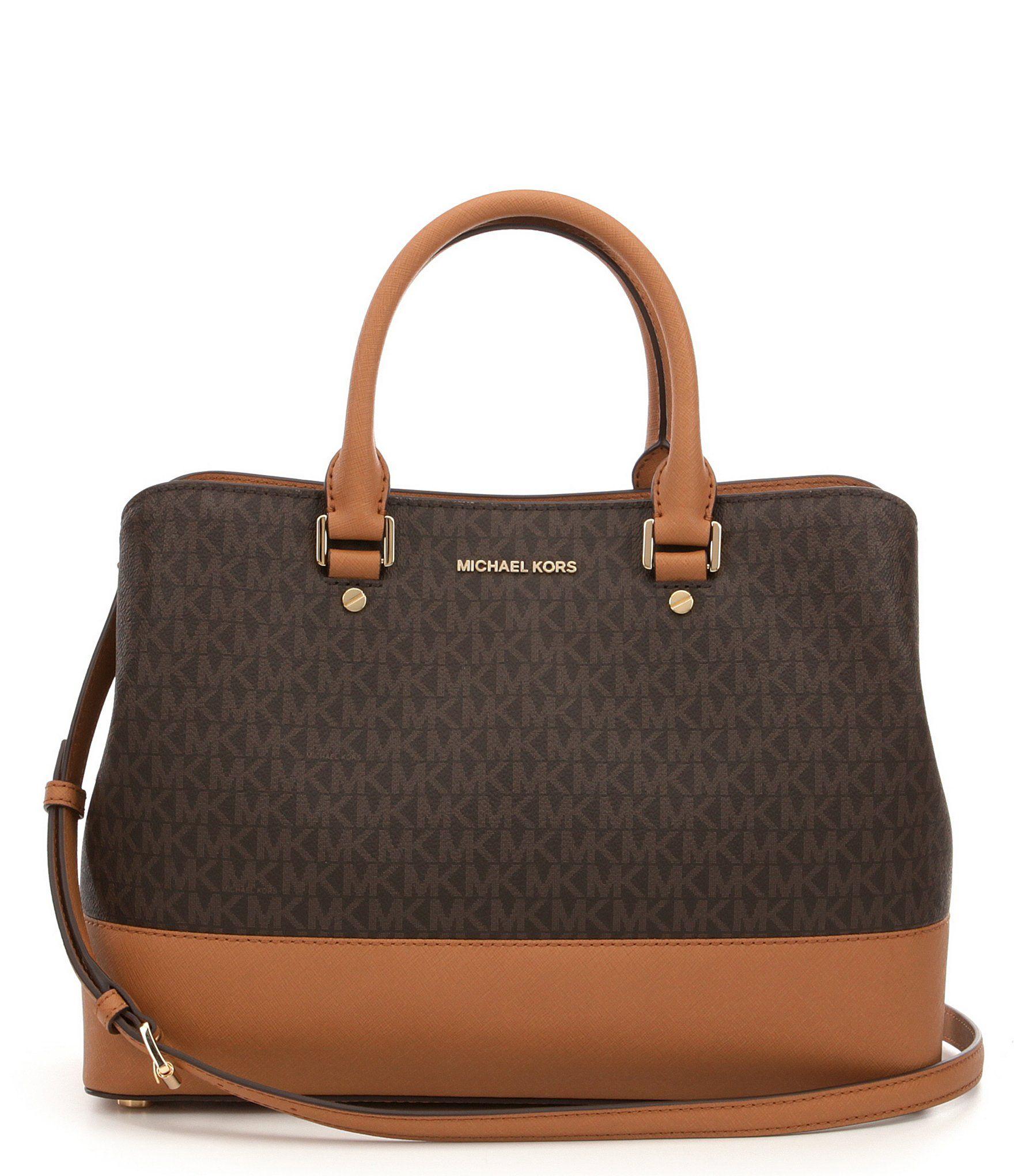 Brown Handbags Bags Michael Kors Savannah