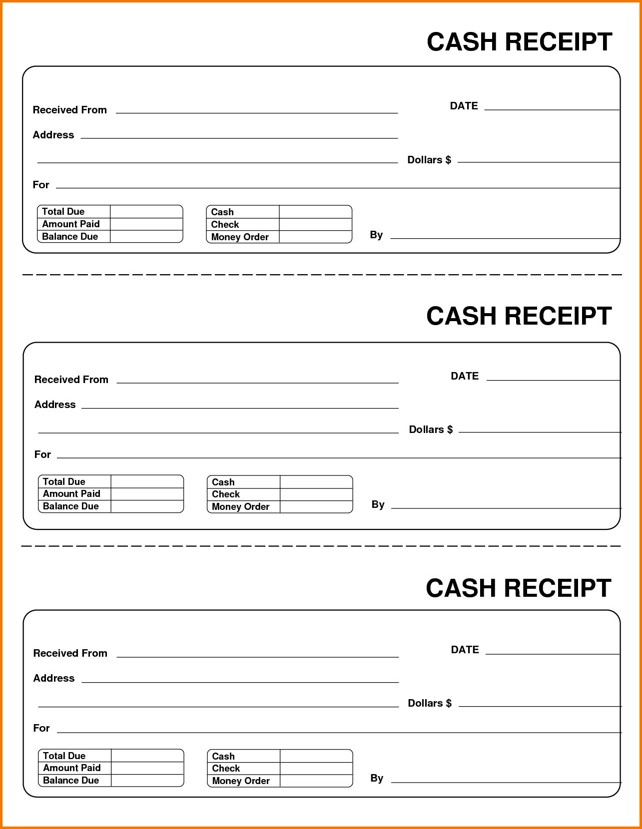 Find New Sample Receipt Payment Template Models And Reviews Form