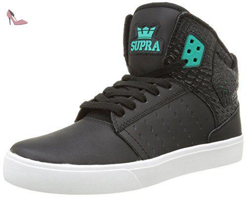 Supra ATOM, Sneakers Hautes mixte adulte, Noir (Black/Atlantis/White)