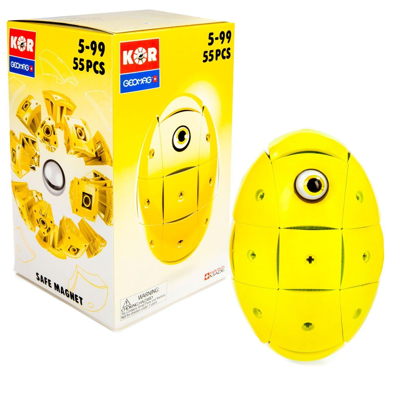 Geomag Kor Egg Yellow 55 Piece Creative Magnet Playset