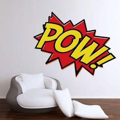 pow wall sticker 24 inch comics pinterest wall sticker and rh pinterest com