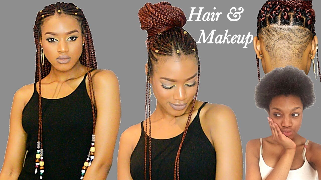 Fulani braids u beads undercut transformation crochet method
