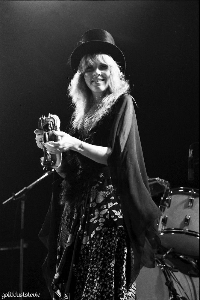 Stevie With Her Top Hat Tambourine Stevie Nicks