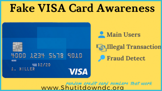 Visa Card Number Generator (7) with Money - Fake CVV Details