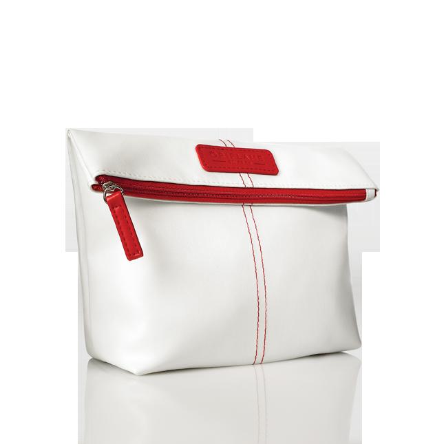 Νεσεσέρ Καλλυντικών #oriflame Κομψό νεσεσέρ καλλυντικών από δερματίνη σε λευκό Χρώμα με κόκκινες λεπτομέρειες. Διπλώστε το στην κορυφή για να το μικρύνετε σε μέγεθος και ξεδιπλώστε το όταν χρειάζεστε περισσότερο χώρο για τα καλλυντικά σας.  Κωδικός:25106