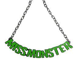 Kreepsville 666 Miss Monster Name Necklace