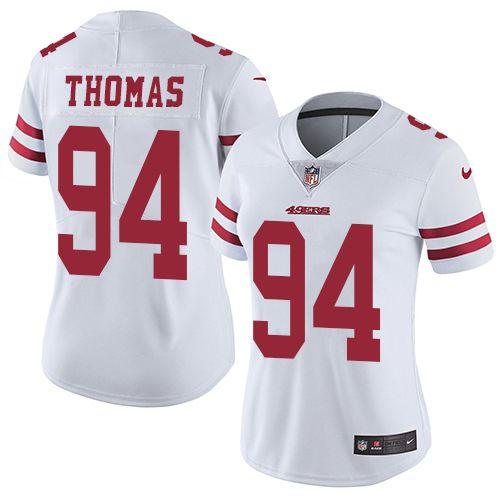 online retailer dc68e 9d5e0 Nike 49ers #94 Solomon Thomas White Women's Stitched NFL ...