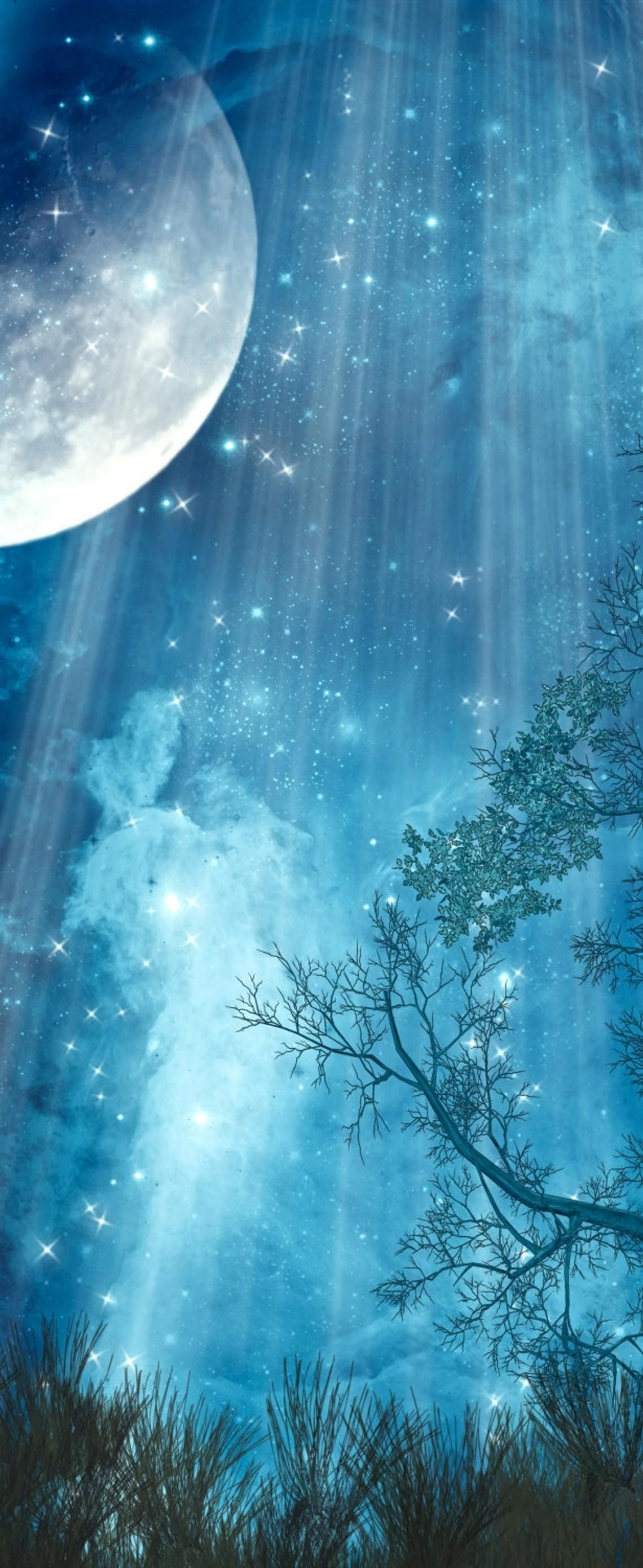 Star Fall in 2020 Autumn painting, Fantasy landscape