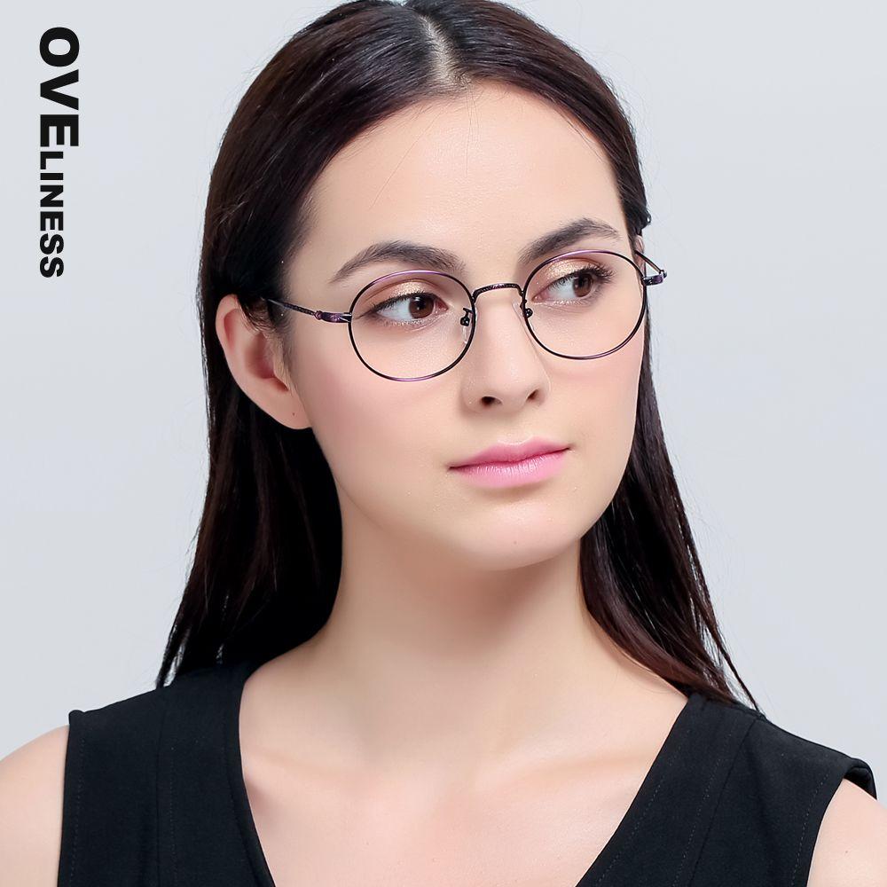 9788d07f07acd Metal eyeglasses frame women men Retro vintage brand Optical Eyeglass Round  Clear Lens Reading Glasses spectacle