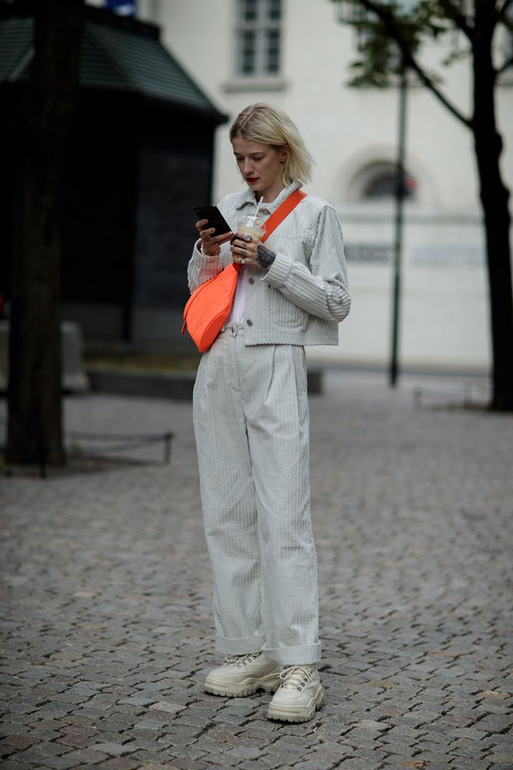 Photo of Tie Dye Looks Stood Out on the Streets of Oslo Fashion Week …