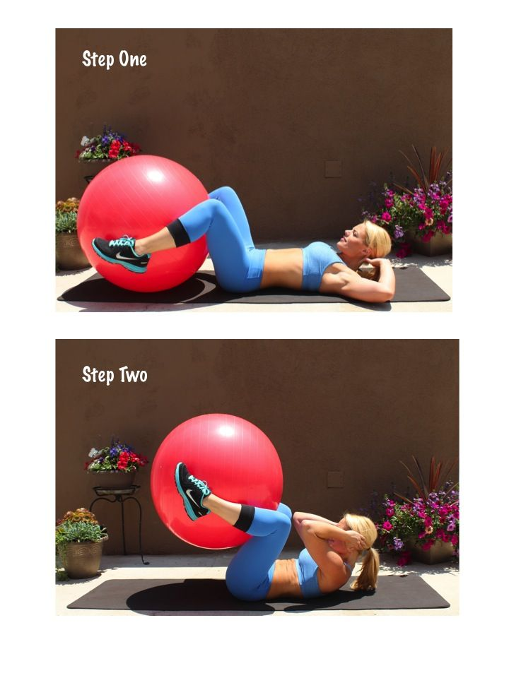 Crunches with yoga ball  1eb263f3a317
