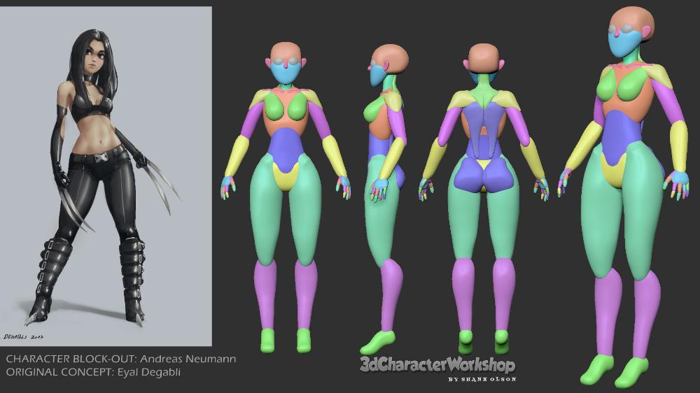 Shane Olson S 3d Character Workshop Zbrush Training Zbrush Character Zbrush Character Model Sheet