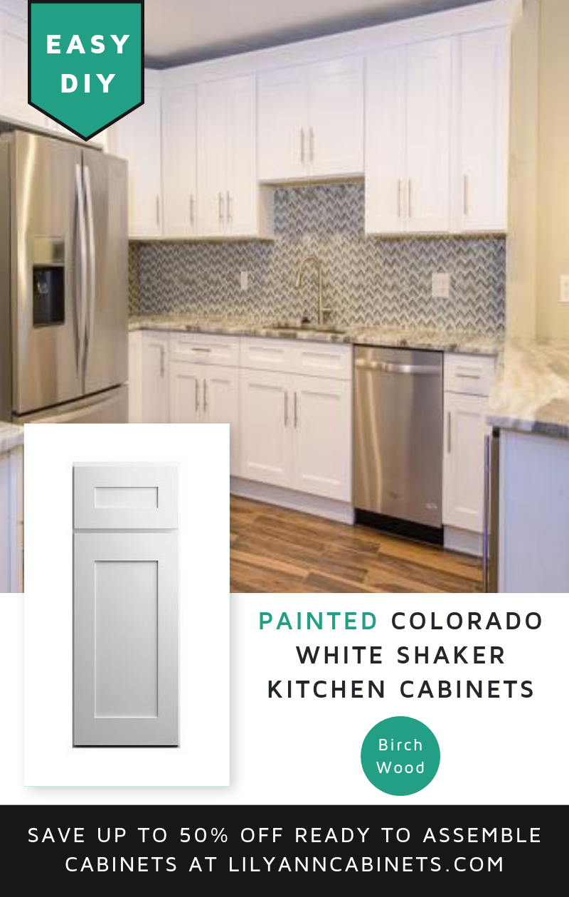 Bring High End Modern Or Farmhouse Design With Our Easy To Assemble Painted Kitchen Cabinets Fr With Images Shaker Kitchen Cabinets White Shaker Kitchen Kitchen Cabinets
