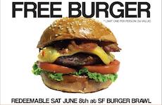Free Burger Coupon at the San Francisco Burger Brawl. http://sfburgerbrawl.com