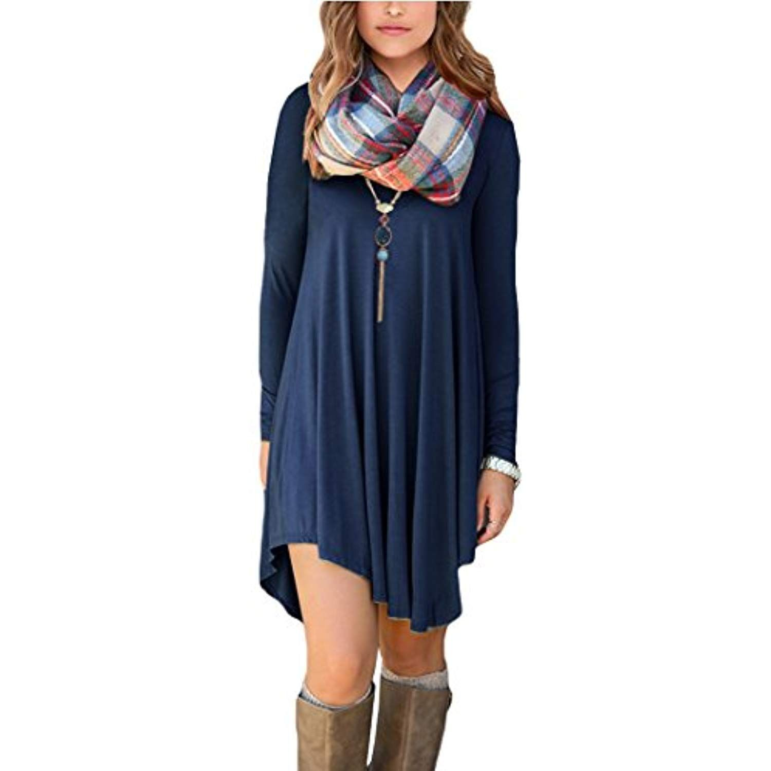 5ebc0163987 Women s Long Sleeve Casual Loose T-Shirt Dress    Want to know more ...