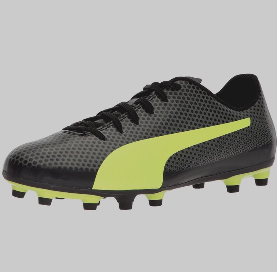 b84f785d Puma Mens 12 Black Neon Green Spirit FG Soccer Shoe Cleat ...