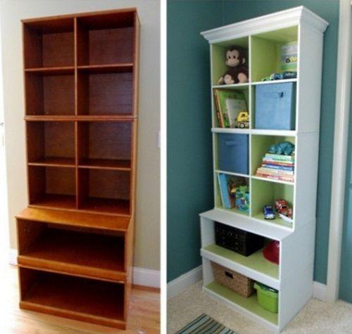 Обновляем старый книжный шкаф своими руками фото
