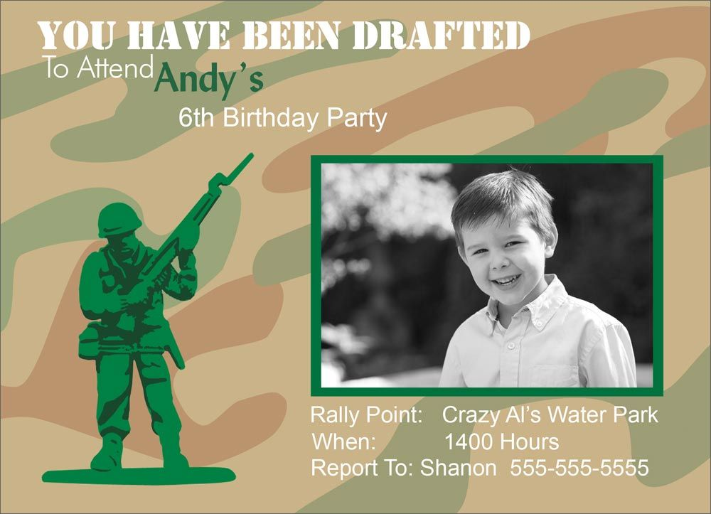 free printable camouflage birthday party invitations%0A Army Themed Birthday Party  Birthday Invitations from CardsDirect