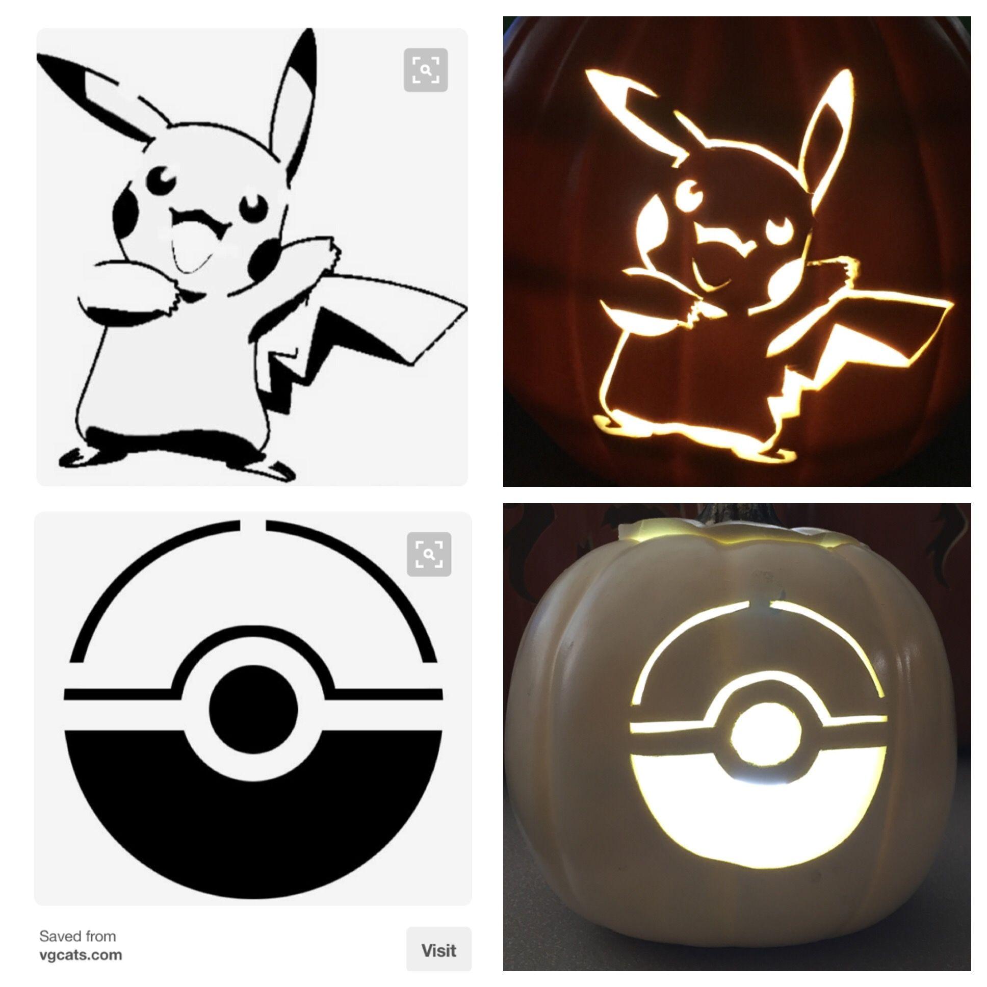 Pokémon Pikachu pumpkin pattern | Pumpkin Carving | Pinterest