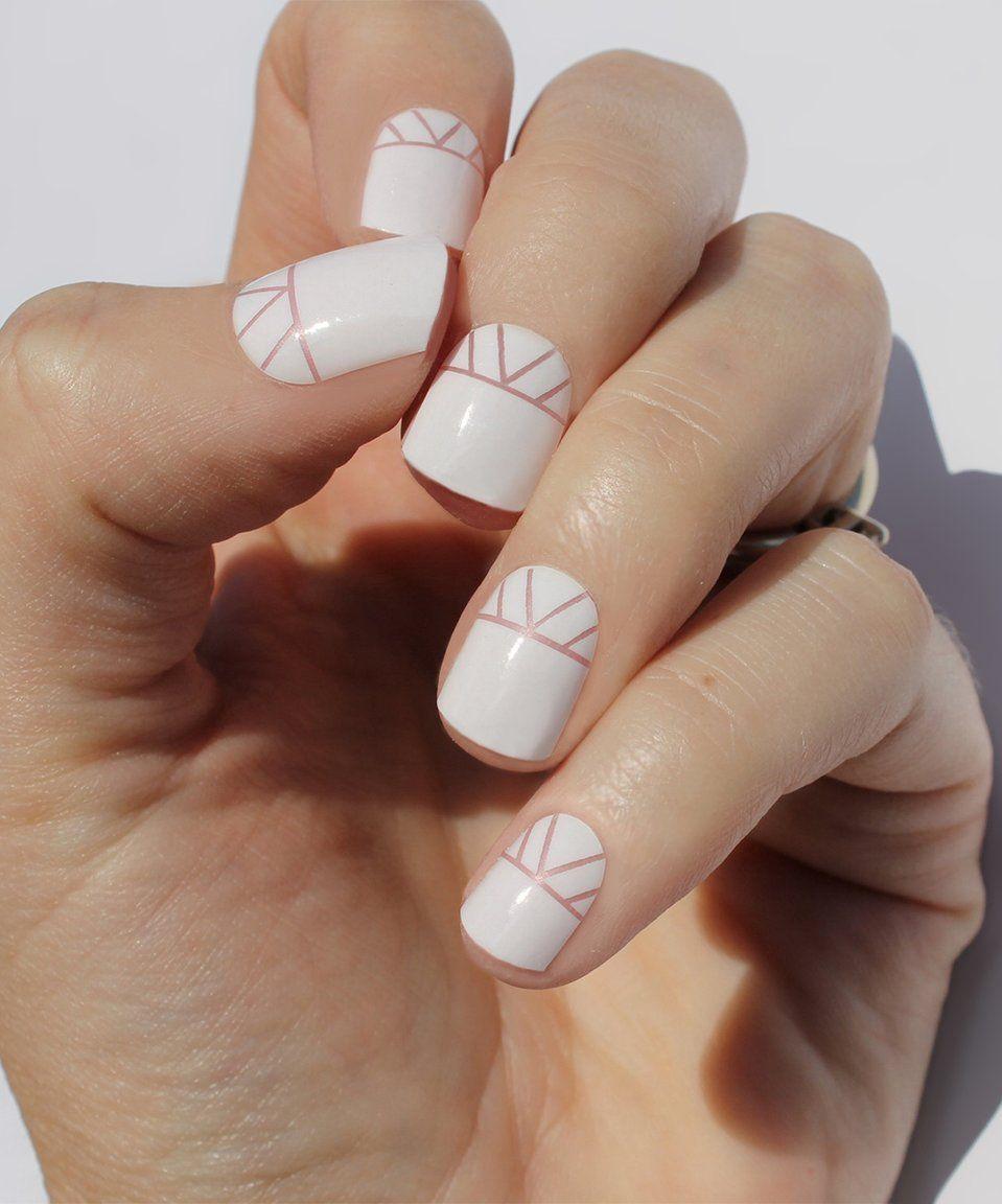Take a look at this So Gloss Nail Wraps White Indio Nail Wraps - Set ...
