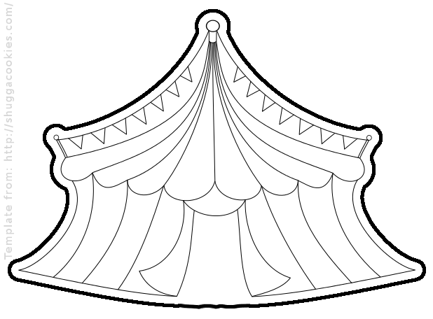 big top tent coloring pages - photo#17