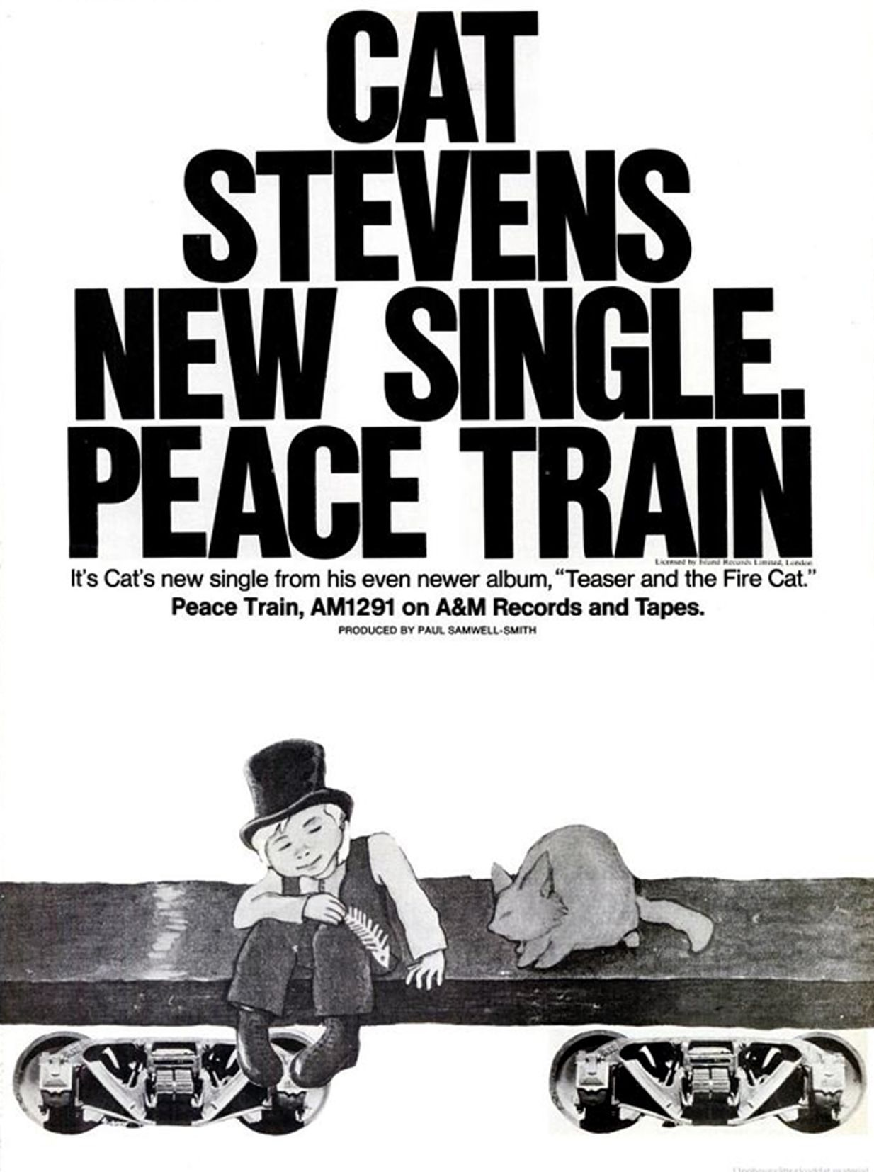 Cat Stevens Billboard Magazine Advertise 1971 Music