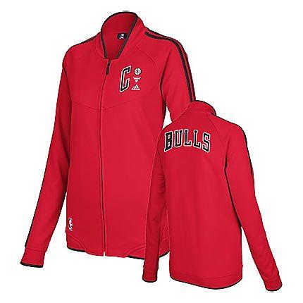 Chicago Bulls Women s Red On-Court Fleece Track Jacket  f1eeb39c8