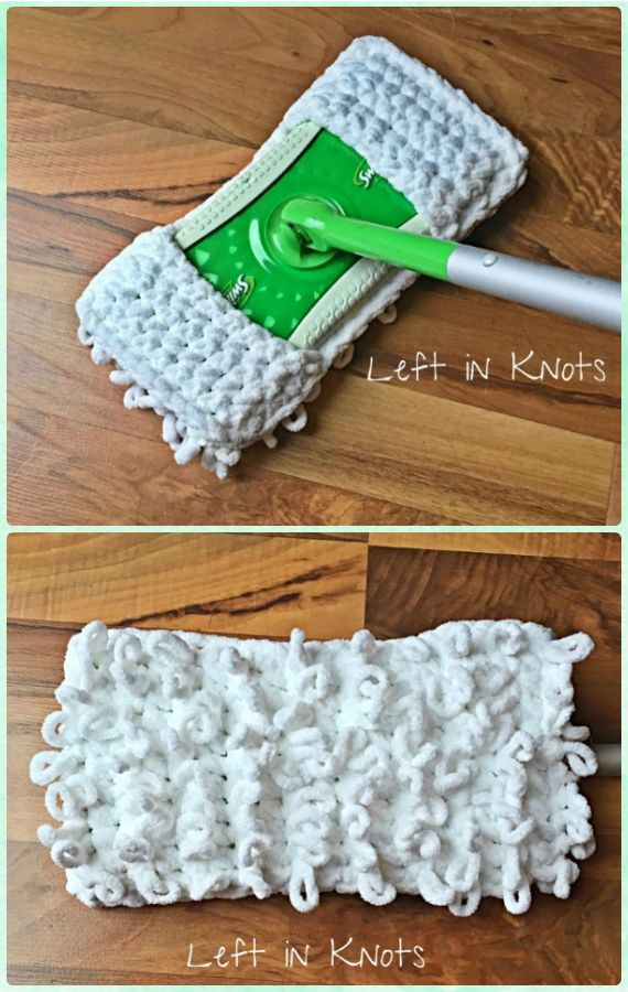 Knit Crochet Swiffer Pads&Covers Free Patterns | Ganchillo, Tejido y ...