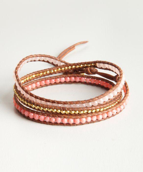 chan luu pink wrap bracelet