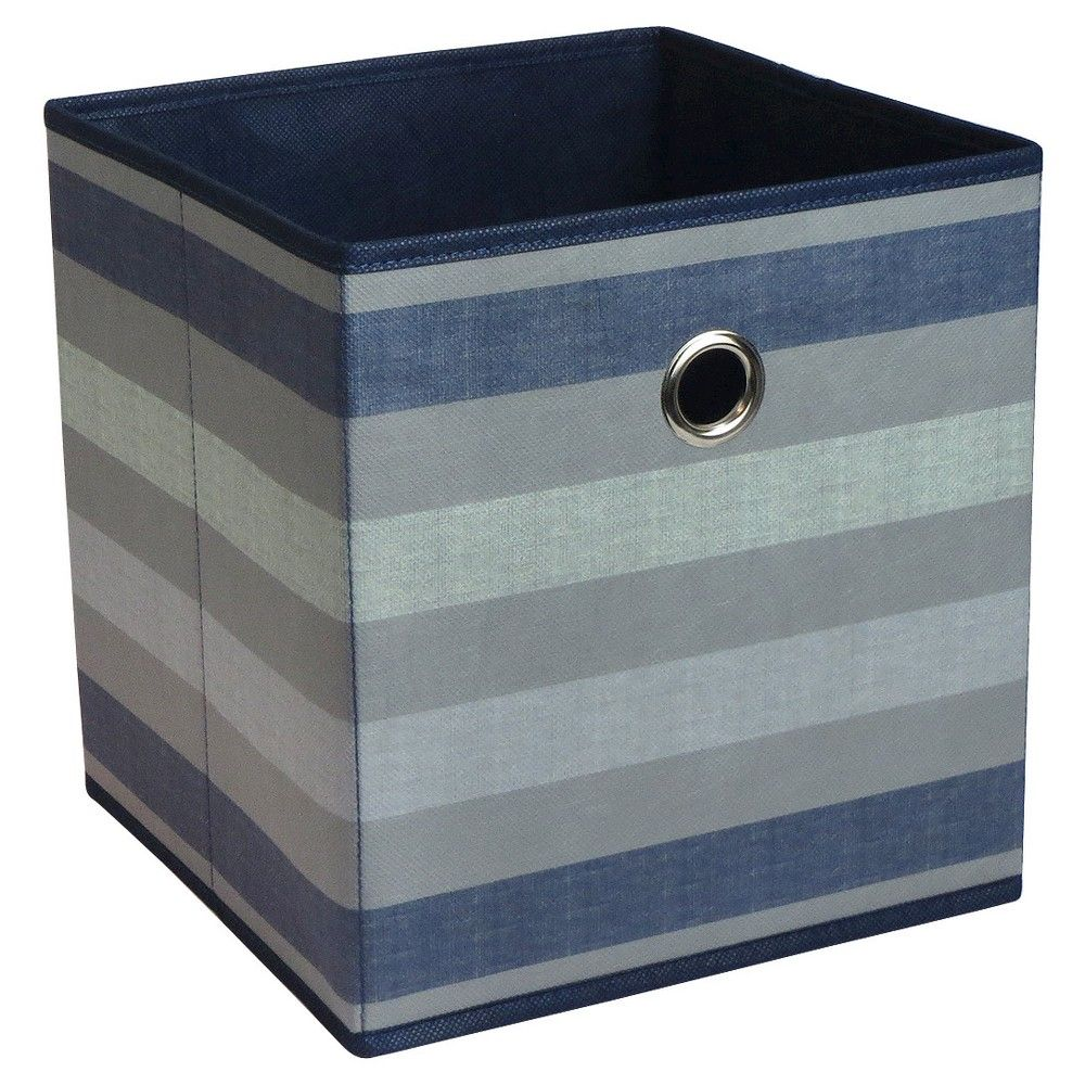 Fabric Cube Storage Bin 11 Navy Stripe Pattern Room Essentials Cube Storage Cube Storage Bins Fabric Storage Bins