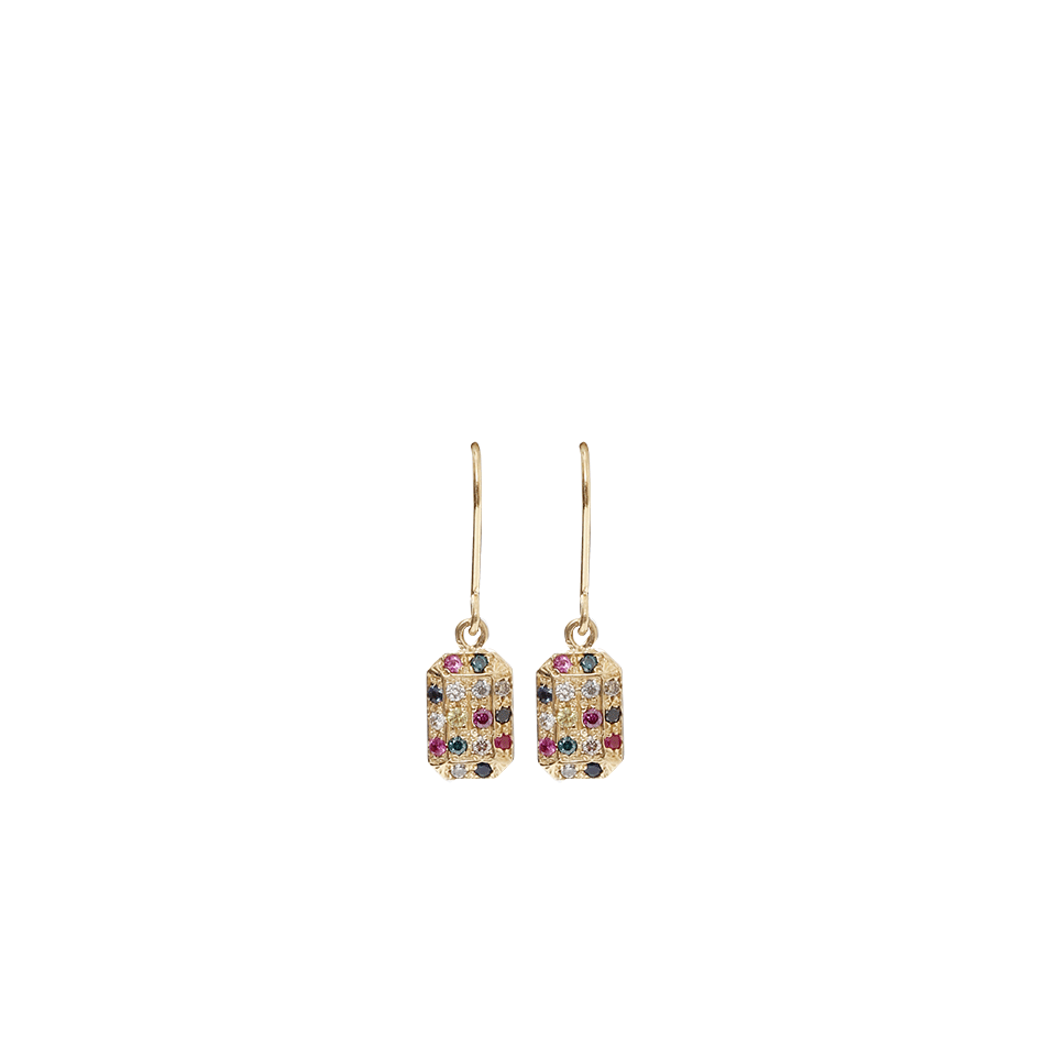 Look Glass Emerald Cut Earrings With Micro Pave From Carolina Bucci