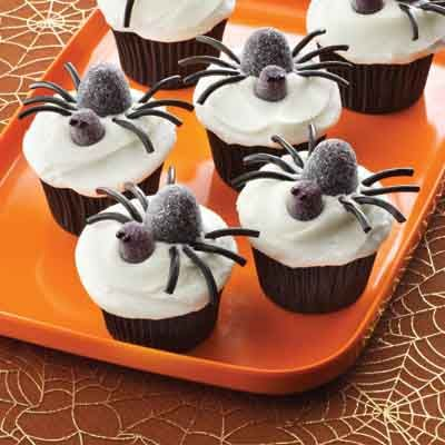 Spooky Spider Cupcakes from Land O'Lakes