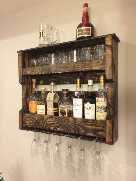 vin bois et ou alcool tag re rack palette par hiddenpondswoodcraft paulo pinterest alcool. Black Bedroom Furniture Sets. Home Design Ideas