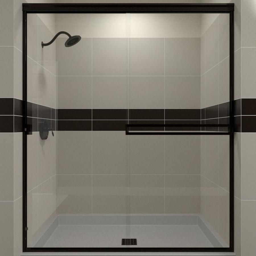 Arizona Shower Door Traditional 56 In To 60 In W Semi Frameless
