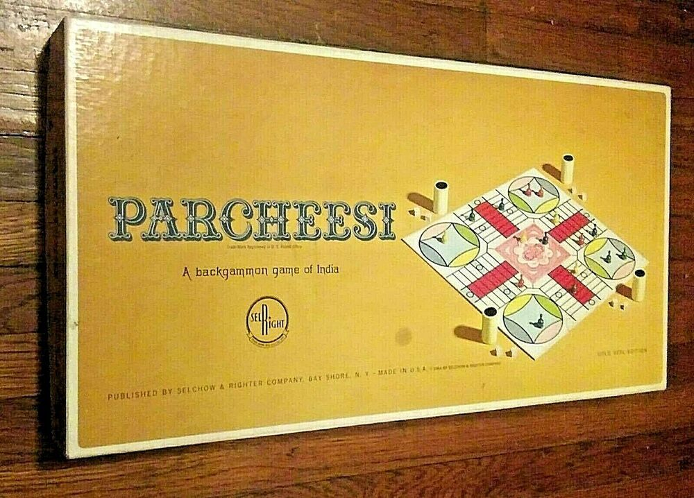 Vintage 1964 Parcheesi Board Game Selright Gold Seal