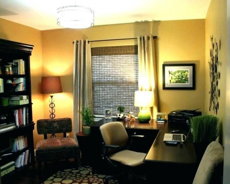 Small Home Office Lighting Ideas With Images Small Office Design Home Office Design Small Home Office