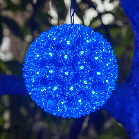 Lighted Party Sphere Blue Led Yard Envy Blue Led Lights Outdoor Christmas Decorations Outside Christmas Decorations